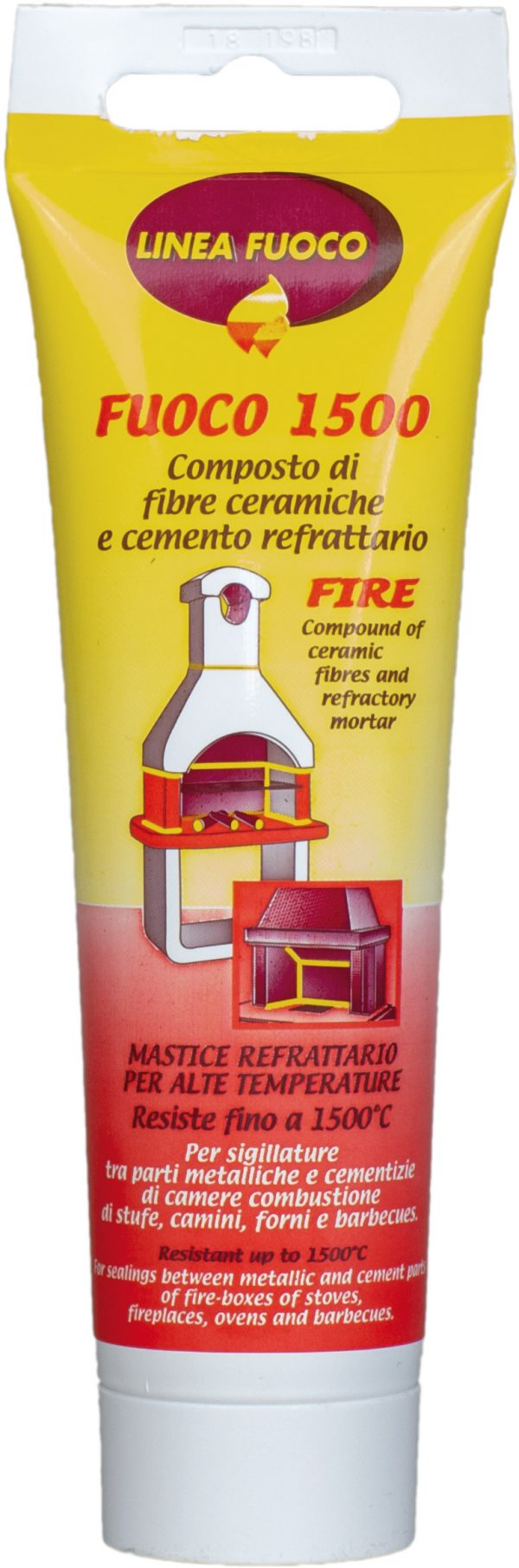 Ceramic-fibre and fire-proof cement compound