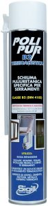sealant and adhesive for windows and glass, POLIPUR B2 TERMOACUSTICA