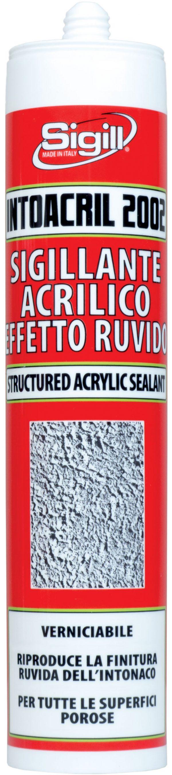 Acrylic sealant with fine grain plaster finish