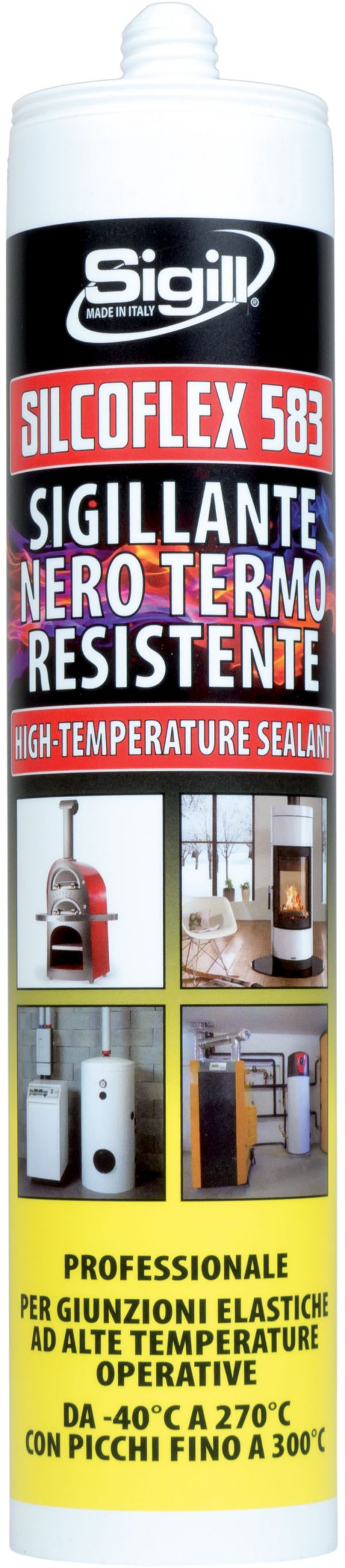 construction sealant ror seals resistant to high temperature 06222 SILCOFLEX 583