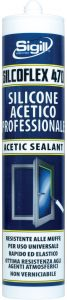construction sealant, sealing and fixing glass SILCOFLEX 470