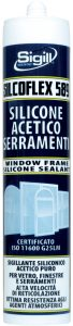 construction sealant, sealing glass and glass, glass and aluminium, SILCOFLEX 589
