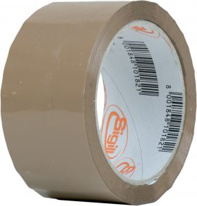 Self-adhesive tape with PPA support and acrylic adhesive in water dispersion, soft and noiseless uncoiling.