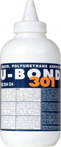 One-part liquid polyurethane adhesive for wood and panel bonding, U-BOND 301