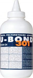 One-part liquid polyurethane adhesive for wood and panel bonding, U-BOND 301